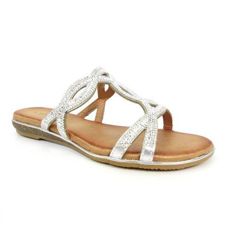 Lunar Gabriela Silver Mule Sandals