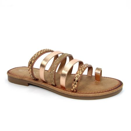 Lunar Gravity Rose Gold Mule Sandals