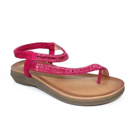 Lunar Lola Fuchsia Pink Sandals