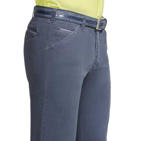 Meyer blue Chicago cotton trousers