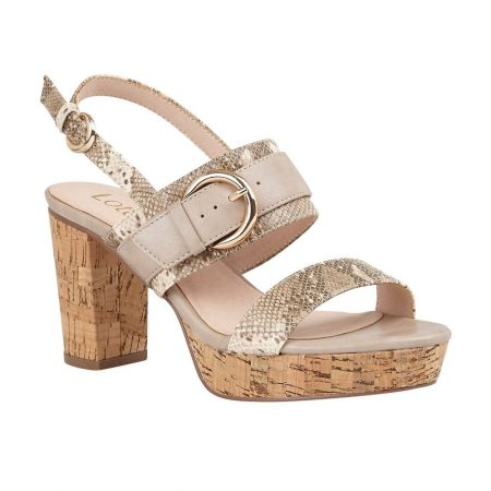 Lotus Romilly Snake Print Heeled Sandals