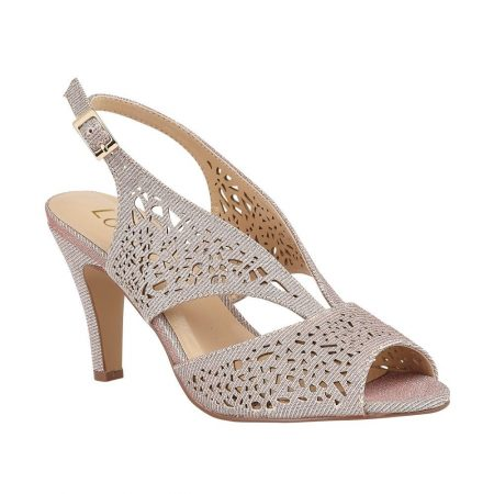 Lotus Amelia Pink Shimmer Heels