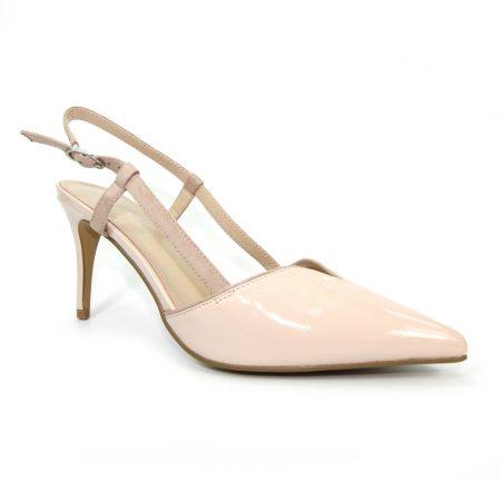 Lunar Quartz Pink Patent Heels