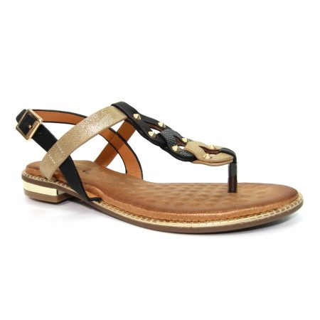 Lunar Resort Black Gold Sandals