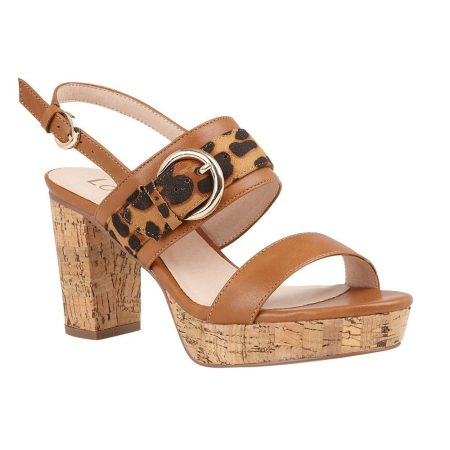 Lotus Romilly Animal Print Heeled Sandals