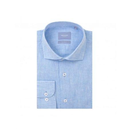 Tresanti turquoise coloured linen shirt