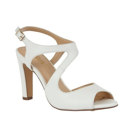 Lotus Shannon White Matt Heels