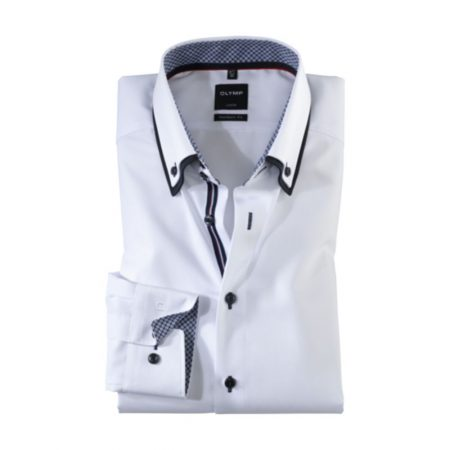 Olymp white double collar shirt