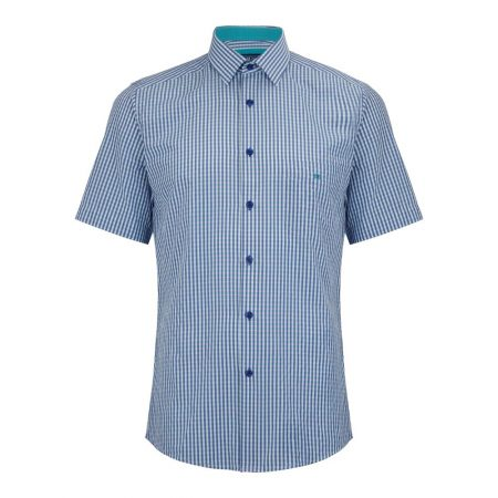 Drifter blue/green check shirt