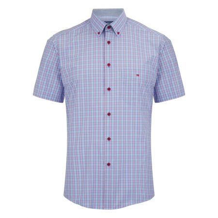 Drifter lilac check short sleeve