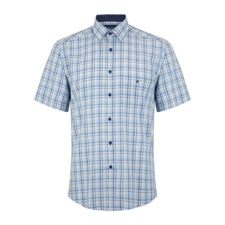 Drifter blue check shirt