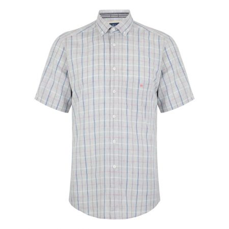 Drifter grey check shirt