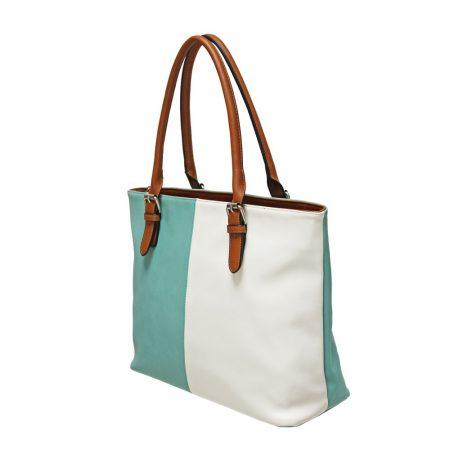 Envy Aqua White Large Handbag