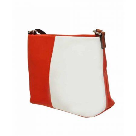 Envy Orange White Medium Shoulder Bag