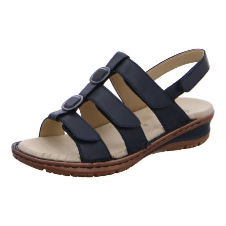 Ara Hawaii Navy Blue Flat Sandals