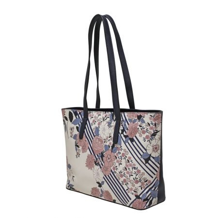 Envy Navy Floral Tote Bag