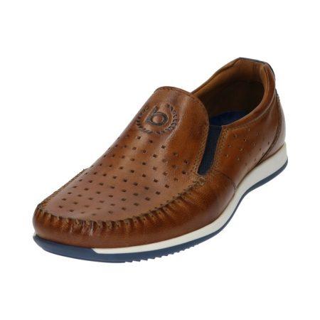 Bugatti tan leather loafer
