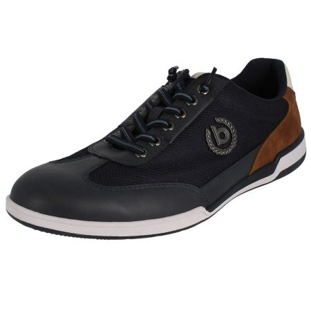 Bugatti Leather Casual Navy Trainers