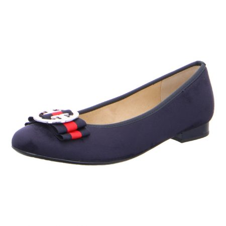 Ara Pisa Navy Flat Shoes