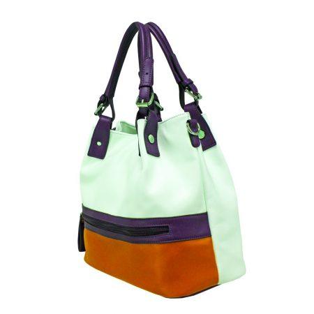 Envy Mustard Navy Large Handbag