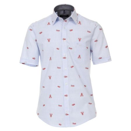 Casa Moda Lobster Short Sleeve Shirt