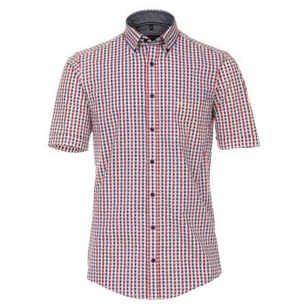 Casa Moda Short Sleeve Check Shirt