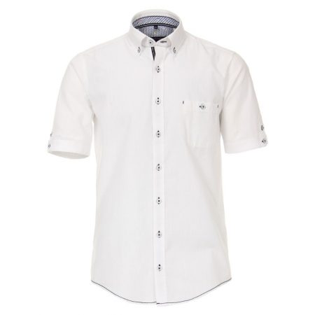 Casa Moda White Short Sleeve Shirt