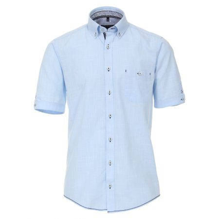 Casa Moda Blue Short Sleeve Shirt