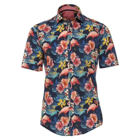 Casa Moda Flamingo Short Sleeve Shirt