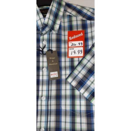 Briggs & Mansfield Tartan Short Sleeve Shirt