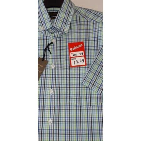 Briggs & Mansfield Short Sleeve Check Shirt