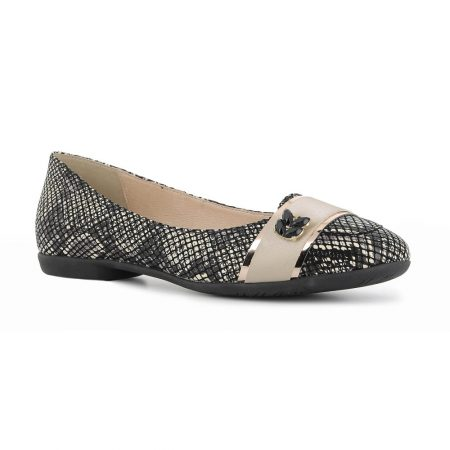 Alpina Caty Snake Print Flat Shoes