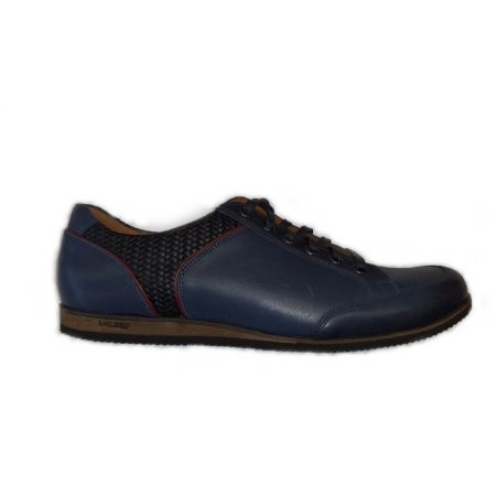 Lacuzzo Navy Blue Leather Trainers