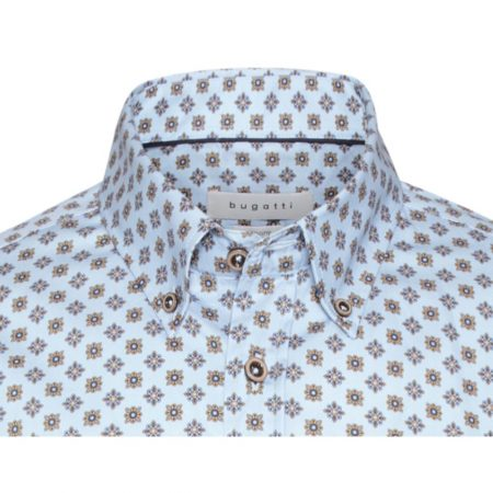 Bugatti blue casual shirt