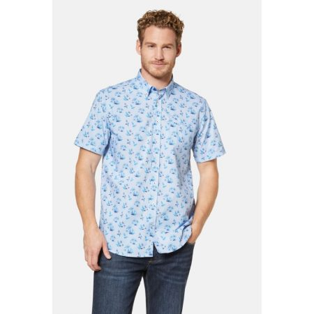 Bugatti patterned short sleeve shirt