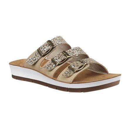 Lotus Turin Gold Flat Sandals