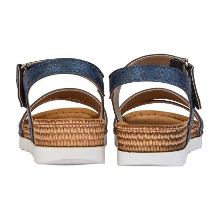 Lotus Prato Navy Flat Sandals