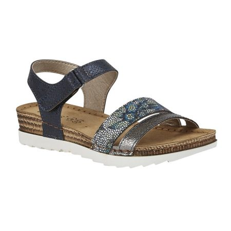 Lotus Prato Navy Flat Sandals