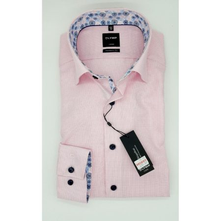Olymp pink shirt with trim