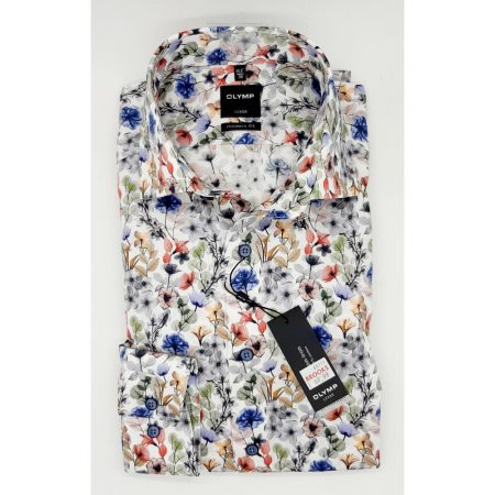 Olymp multicoloured patterned shirt