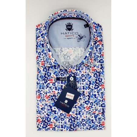 Hatico patterned short sleeve shirt