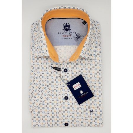 Hatico apricot short sleeve shirt
