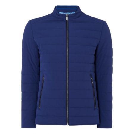 Remus Uomo Benny Blue Quilted Jacket