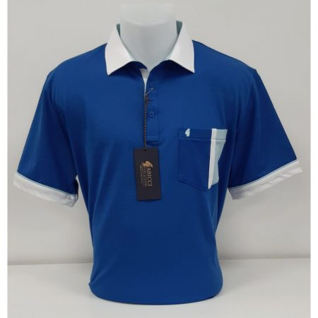 Gabicci Bright Blue Classic Sports Shirt