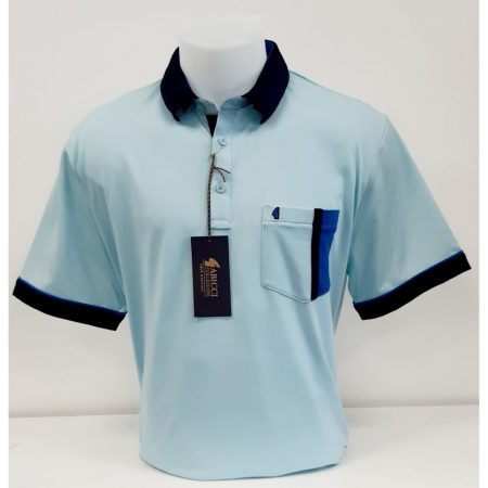 Gabicci Pale Blue Classic Sports Shirt