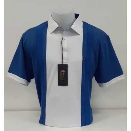 Gabicci Blue White Classic Sports Shirt