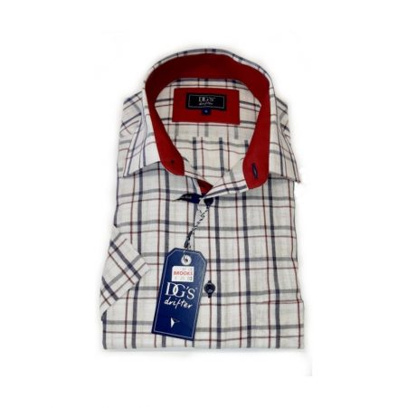 Drifter Cream Check Short Sleeve Shirt