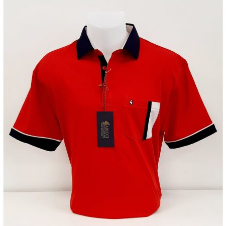Gabicci Lava Red Classic Sports Shirt