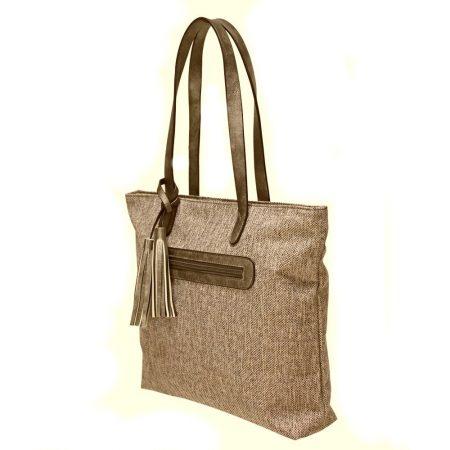 Envy Thyme Camel Tweed Medium Handbag