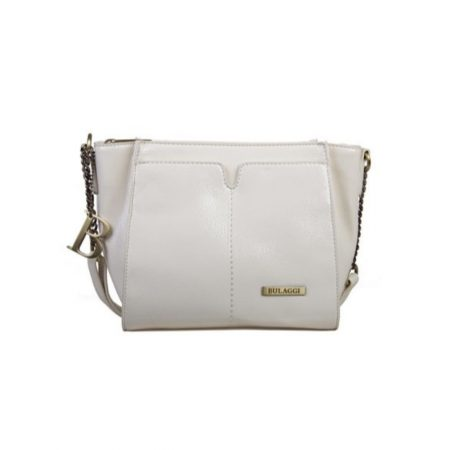 Bulaggi Lily White Patent Crossbody Bag